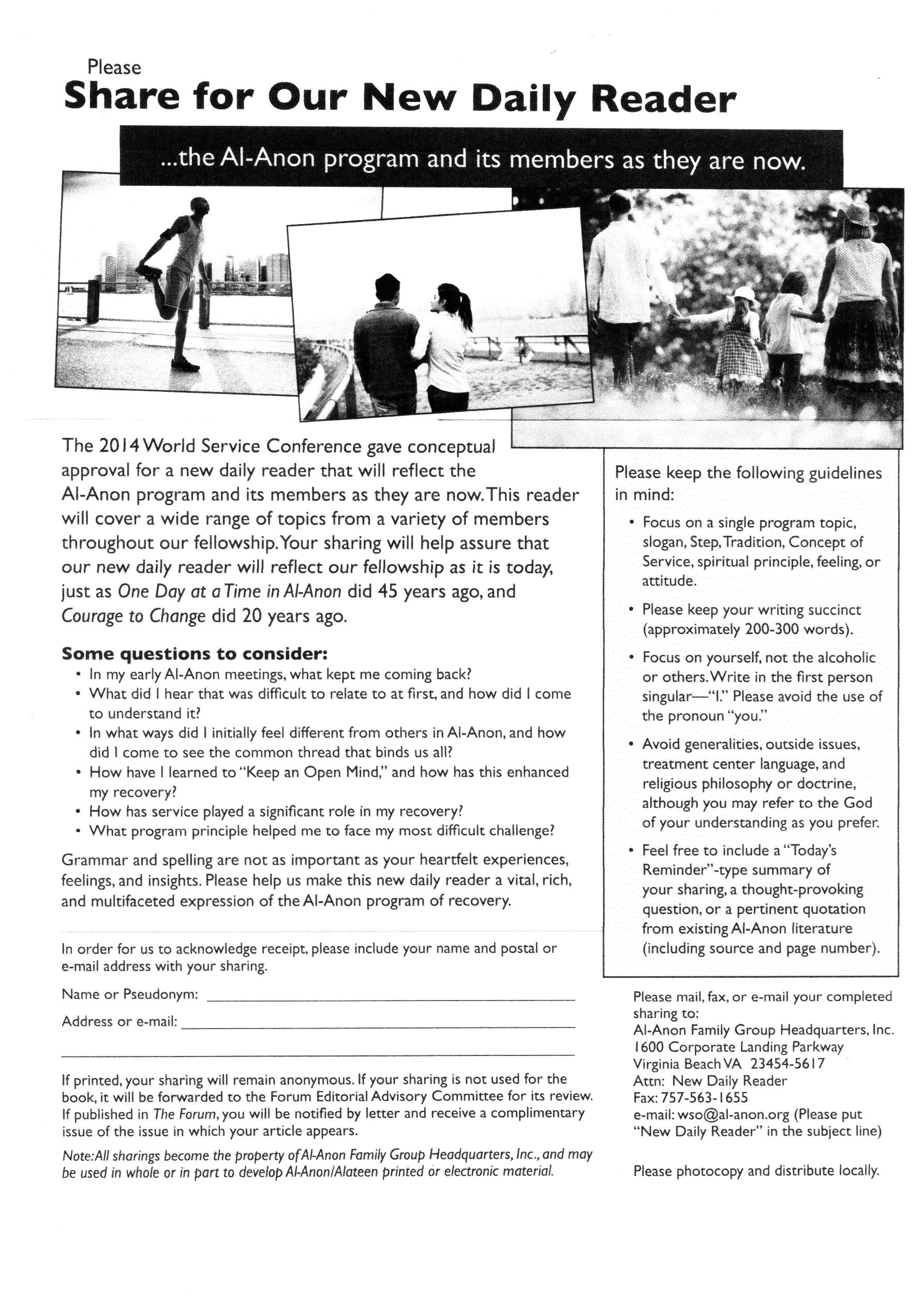 Al-Anon Gauteng Districts - Newsletter - help and support to the ...